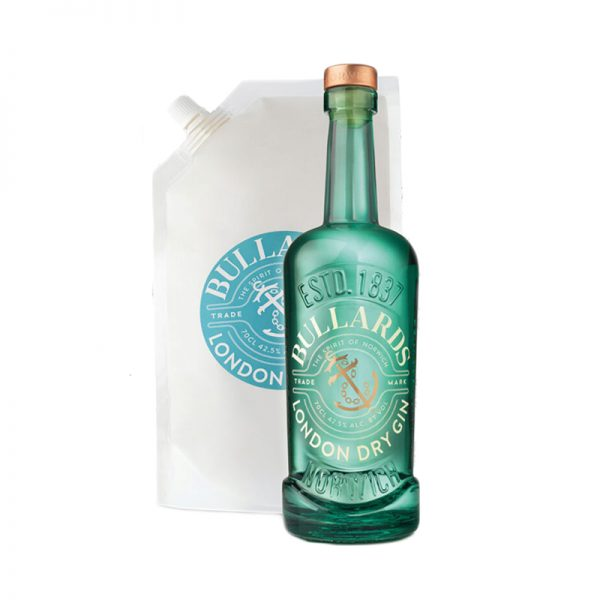 Bullards London Dry Gin Bottle & Refill Pouch