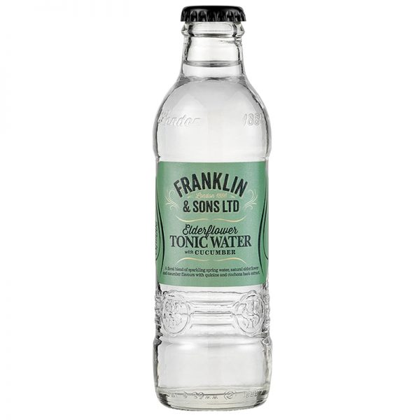Franklin & Sons Elderflower Tonic Water With Cucumber