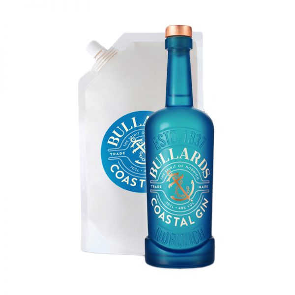 Bullards Coastal Gin Bottle & Refill Pouch