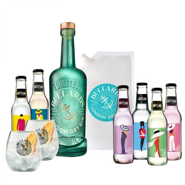 Bullards London Dry Gin & Artisan Tonics Bundle